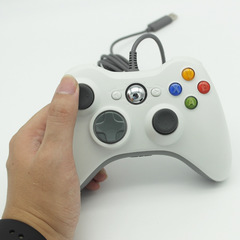 1pc Wired USB Game Controller Gamepad PC Computer Joypad For Microsoft Xbox 360 White