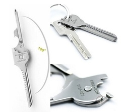 6 in 1 Utili-key Chain Screwdriver Opener Knife Stainless Steel Mini Multi-tool EDC Hot As picture shows 7cm*1.9cm*0.3cm