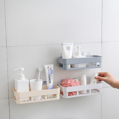 Punch free Multifunctional Toothbrush Holder Bathroom Organizer Accessory Adhesive Storage Rack White 25.5cm*10.5cm*7.5cm