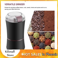 400W Electric Coffee Mill Grinder Beans Spices Nuts Grinding Machine with Stainless Steel Blade Black EU plug