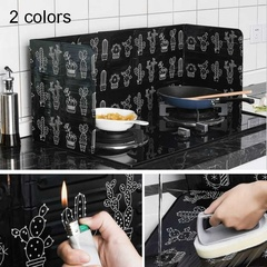 1pcs Aluminum Foil Oil Splash Cleanable High Temperature Baffle Stove Protector Kitchen Supplie Black One size