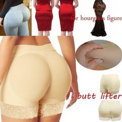【Quality Assurance】FLYCOOL Women Lace Padded Seamless Butt Hip Enhancer Shaper Panties Underwear Black s