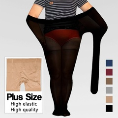 【Quality Assurance】Plus Size Ultra Elastic Tights Stockings Women Sexy Shaping Pregnant Stocking Apricot One size