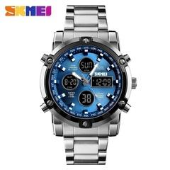 SKMEI Luxury Quartz Men's Watch Digital Multifunctional Wristwatches Water Resistant Herrenuhr Blue one size
