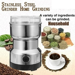 Electric Stainless Steel Coffee Bean Grinder Milling Machine 220V EU Plug Coffee Kitchen Accessories Silver one size