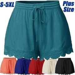 S-5XL Women's Fashion Lace-up Solid Summer Shorts Ladies Casual Short Pants Plus Size Black s