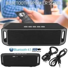 SC208 Bluetooth 4.0 Wireless Speaker TF USB FM Dual Bluetooth Speaker Bass Sound Subwoofer Speakers Black
