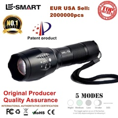 XM-L T6 3800LM Flashlight Torch Zoom Linternas LED Flashlight for 3xAAAor 18650 Rechargeable Battery Black Rechargeable