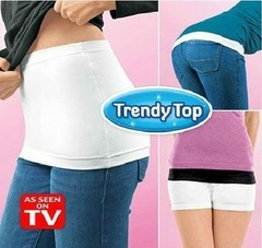 2PCS Women's HIP T Covering Hip Skirt TRENDY TOP Slim Skirt Hip Cover Bum Cleavage Black&White M