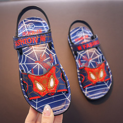 Children Shoes Led Boys Sneakers Summer Spiderman Flasher Slippers Sports Kids Shoes Blue 21 yards / inner length 13cm