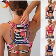 Women Running Gym Running Bra Workout Jogging Push Up Yoga Top Vest Elastic Stamp Yoga Shits Sexy A s