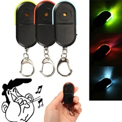2pcs Whistle Sound Control LED Key Finder Locator Find Lost Keys Chain Keychain Random color 2pcs