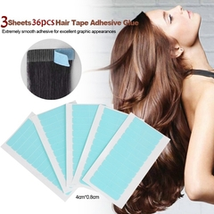 36pcs Beauty Waterproof Blue Adhesive Glue Wig Supplies Double-sided Wig Tape Hair Extension Tool As picture shows 36pcs