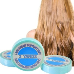 10mm*3m/Roll Sticky Female US Blue Wig Tape Strong Double Sided Adhesive Hair Taped for Lace Hair Blue 1pc