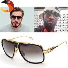 Sunglasses Men Designer Sun Glasses Driving Oculos De Sol Masculino Grandmaster Square Sunglass Black one size