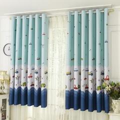 1PC Home Decor Bedroom Living Room Kitchen Pencil Pleat Blackout Curtains As picture shows 100*200cm