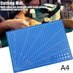 DIY A4 Double-sided Grid Lines Cutting Board Mat Self-healing Cutting Pad Blue A4