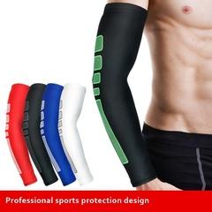 Elastic Antislip Arm Protector Crashproof Long Sleeve Gear Arm brand For Basketball Black M