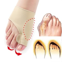 2 Pair Beetle Crusher Corrector Toe Separators Outer Appliance Health Care Hallux Valgus Adjuster Naked(One size)