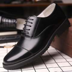 Phoenix Men's Genuine Leather Shoes Office Official Shoes Wedding Party Shoes Male Formal Shoes Black 38 Artificial leather