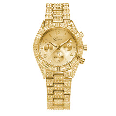 Women Mens Watches Luxury Brand Men's Fashion Stainless Steel Band Gold Watches Gold one size