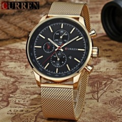 CURREN Watch for Men Top Luxury Brand Man Fashion Classic White Gold Business Casual Quartz-watch Gold one size