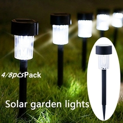 4/8PCS Led Solar Light For Garden Decoration Outdoor Waterproof LED Stainless Material Yard Lamp 4pcs 120*120*445(mm) 0.6(W)