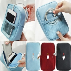 Men's And Women's Digital Accessories Storage Bag Travel Portable Charger Headset Cable Bag Storage Red One size