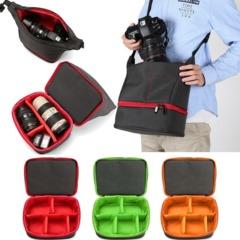 Canvas Equipment Camera Bag For Nikon Canon Digital Slr for Mirror Lens Micro 4/3 Black one size