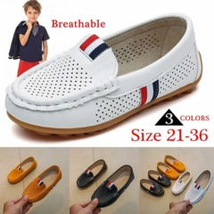 Spring Kids Shoes for Boys Casual Hollow Breathable Sneakers Loafers for Medium Boys Slip-on Shoes Yellow 21