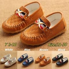 Flat New Slip-on Children Boy Oxford Loafers Mocassins Kids Shoes Running Black 21