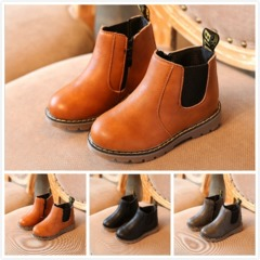 Fashion Baby Boots Girl Boy Martin Boots Casual Comfortable Shoes Children's Shoes Black 21