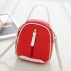 Summer Versatile Shoulder Bag Mini Backpack Diagonal Women's Bags Lychee Shell Bag Handbags Red 15cm*18cm*6cm