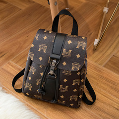 Women's backpack autumn new wild small bag Europe with presbyopic backpack A one size