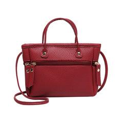 Women's Bags New Lychee Pattern Shoulder Diagonal Cross Bag Handbags Cross-border Handbag Red one size