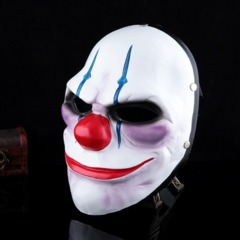 Flying Winger Hot Sale Fashion Halloween Mask Clown Mask Heist Chains Mask White Flying Winger A one size