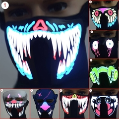 Face Mask Led Light Up Flashing Halloween Party Costume Dance Cosplay Cos Decor 1