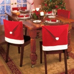 1pc Santa Claus Chair Cover Christmas Dinner Table Red Hat Chair Cover le président de couvrir Red