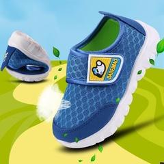 Children's shoes Spring Autumn boy children sports shoes casual shoes mesh breathable baby shoes Blue 19