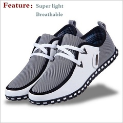 Men's Summer Fashion Casual Canvas Sneaker Shoes Ultralight Flattie Breathable Shoes White 39