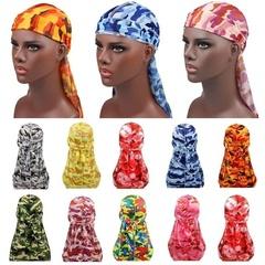 9 Colors Long Tail Satin Print Durag Bandanas Turban Hijab Cap Cancer Chemo Hat For Men Women Colorful Adjustable