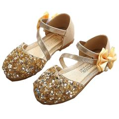 New Princess Shoes Kids Girls High Heels Dress Shoes Kids & Baby Girls Sandals Gold 21