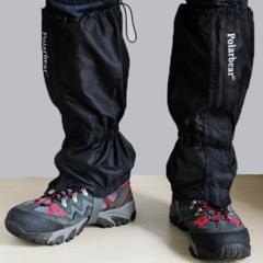 Waterproof Gaiters Outdoor Hiking Walking Climbing Hunting Windstopper Snow Legging Gaiters Black