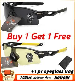 【Free Gifts】2PCS Polarized Night Driving Glasses For Men Anti-Glare Safety HD Night Square Eyewears Black+Yellow one size