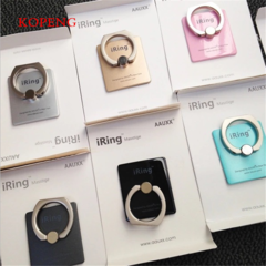 KOPENG 360 Degree Finger Ring Grip Mobile Phone Tablets Holder Stand Holder Back Cover 40*35*7mm pink one size