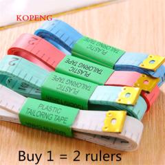 KOPENG 1.5m Color Measuring Tools Plastic Tape Measure Flexible Ruler Clothing Sewing Market Ruler Color random 1.5m