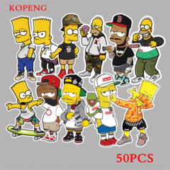 50PCS  Simpsons Style Graffiti Stickers  Luggage Laptop Skateboard Car Motorcycle Bicycle Stickers 50pcs one size