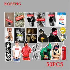 50PCS SUP001 Graffiti Stickers DIY Luggage Laptop Skateboard Car Motorcycle Bicycle Stickers 50pcs one size