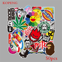 50PCS  A Graffiti Stickers DIY Luggage Laptop Skateboard Car Motorcycle Bicycle Stickers 50pcs one size
