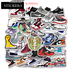 50PCS Sneakers Style Graffiti Stickers  Luggage Laptop Skateboard Car Motorcycle Bicycle Stickers 50pcs 4-8cm